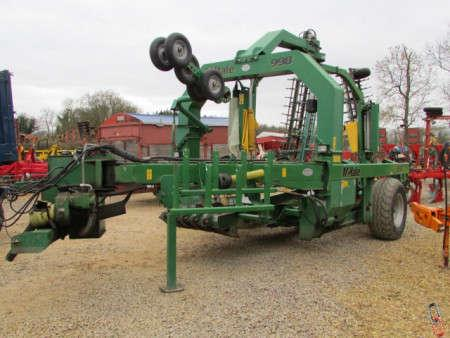 McHale 998 Trailed Bale Wrapper, with Round Bale kit, 8586 bales!